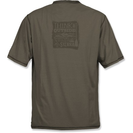 Kayak and Canoe Enjoy a leisurely paddle in the White Sierra Paddle Graphic T-shirt. Cotton/modal blend fabric is soft and breathable. Closeout. - $16.73