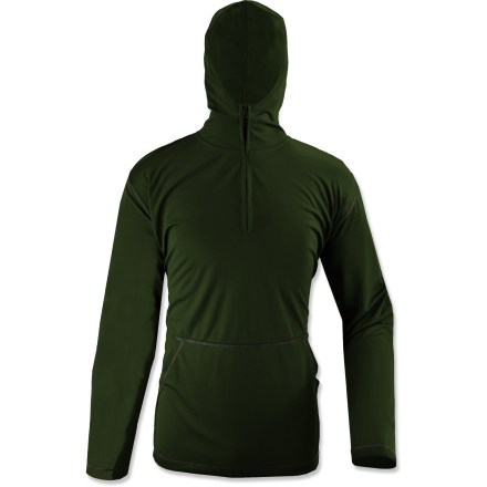 Fitness The Swamp Quarter-Zip hoodie from White Sierra is a great choice for active pursuits outdoors. Polyester mesh fabric is moisture wicking and quick drying. EPA-registered, odorless Insect Shield(R) Repellent Apparel helps keep biting and potentially disease-carrying insects at bay. Fabric provides UPF 30 sun protection, shielding skin from harmful ultraviolet rays. Hood and front kangaroo pocket round out features. Half-zip front for easy ventilation when activity levels rise. Special buy. - $15.73