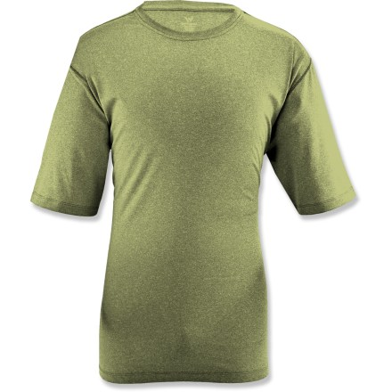 Fitness The White Sierra Sears Point T-shirt is idea for warm-weather activities such as hiking, kayaking and bike riding. Soft polyester/elastane blend knit moves with you. Fabric provides UPF 30 sun protection, shielding skin from harmful ultraviolet rays. Closeout. - $8.73