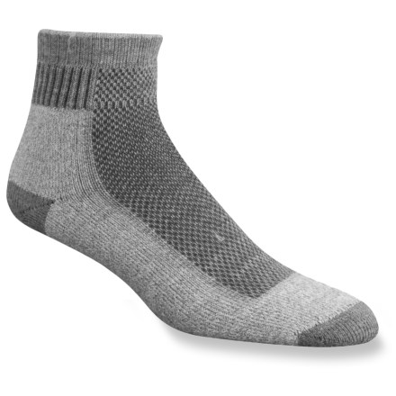 Camp and Hike Fully cushioned, midweight socks offer just the right amount of comfort and performance for casual or outdoor footwear--great for sandals. - $2.83