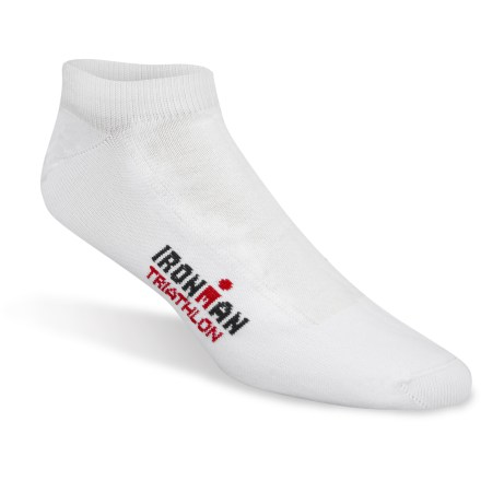 Fitness Ironman Triathlete Pro Low-Cut socks are made for performance. Thin and light, they provide serious athletes a comfortable, blister-free edge. - $15.00