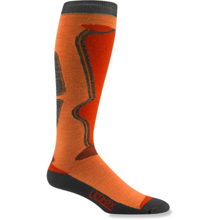 The Wigwam Snow Moto Pro socks are designed with lightly padded soles for insulation and cushioning, while still being snug-fitting throughout for great performance. Cushioned soles and shin panels. Ultimax(R) Pro fabric wicks moisture to keep feet dry, resists odors, fits snugly and keeps feet warm. Stay-put legs and seamless toe closures. *Discount will be applied when you check out. Offer not valid for sale-price items ending in $._3 or $._9. - $14.93