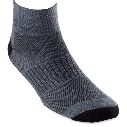 Fitness With 2 pairs of WrightSock CoolMesh II Quarter socks, you'll get double the performance of the 2-layer design that maximizes moisture management and minimizes friction. - $9.83