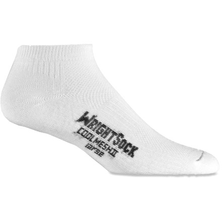 Fitness These WrightSock CoolMesh II Double-Layer Lo socks use an innovative 2-layer design to maximize moisture management and minimize friction for excellent active sport comfort. - $4.83