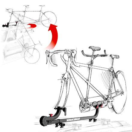 Fitness Provides hassle-free loading and a safe, solid transport of tandem bicycles using frame supports rather than wheel trays - $399.00