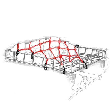 Camp and Hike Use this accessory net to keep all the gear in your Yakima Basketcase secure as you drive. - $30.00
