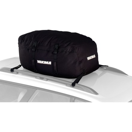 Camp and Hike This Yakima GetOut cargo bag is a great alternative to a hard-shell cargo box. It attaches to almost anything on top of your car and folds up for easy storage when not needed. - $99.00