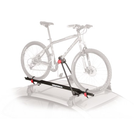 Fitness The Yakima Raptor bike mount is ready to transport your bike to the trails. Conveniently transports your bike without the hassle of removing a wheel; folds down when not in use. Fits a wide variety of bicycle down tube shapes and sizes up to 3 in. wide; disc brake and thru axle compatible. Soft, padded Raptor claws cradle tube shapes without harming paint finish. Fits round and square crossbars. Theft deterrence is provided by the addition of SKS lock cores (not included). Please note: Raptor is not intended for use with composite frame bikes. Overstock. - $82.83