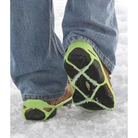 Entertainment Add traction to almost any shoe with Yaktrax, an easy-to-use accessory with an updated design for greater durability, traction and comfort. - $19.95