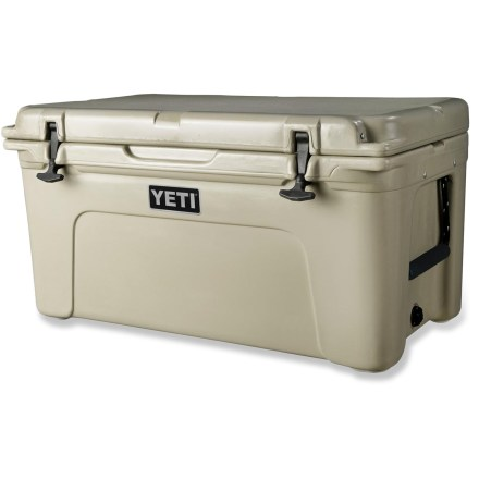 Camp and Hike Most coolers come away from a life full of adventure with cracked corners, caved-in lids and busted hinges. Not the YETI Tundra 65. It's built tough to take the abuse that comes with the way you play. - $400.00