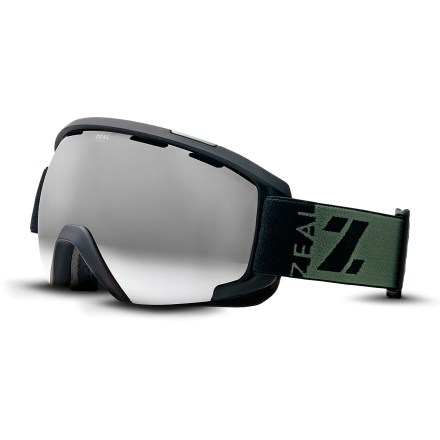 Ski Zeal Slate photochromic snow goggles adapt to changing light and offer premium peripheral clarity for excellent all-around performance on the snow. Lightweight, pliable and strong frames provide all-day comfort; area around the nose bridge has been shaped to optimize comfort and fit. Ventilation system brings cool outside air in and moves warm, moist air out, reducing the likelihood of fogging. Antifog lens treatment is infused into the inner lens so it will never rub off. Triple-density foam molds to your face for a secure fit and wicks away uncomfortable moisture. Spherical lens shape offers a broad field of vision and excellent optical quality. Rose-tinted photochromic lens changes tint darkness depending on available light, offering 58 - 75% visible light transmission for versatility in nearly all light conditions. Includes a microfiber cleaning bag; additional lenses are available but not included. Zeal Slate photochromic snow goggles are sized to fit medium and large faces. - $249.00
