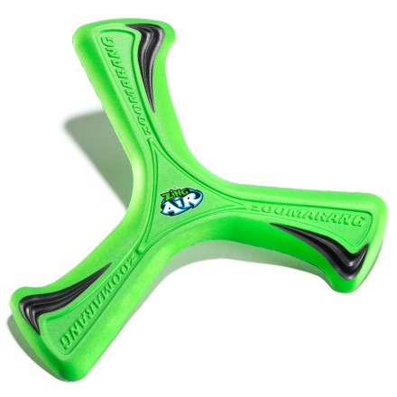 Camp and Hike It's the original backyard boomerang! The Zing Zoomarang is easy to throw and catch, and makes a big, curving arc right back to you. Soft, catchable design with easy returns is fun for anyone 6 yrs. and up. Flies 30 - 50 ft. - $6.93