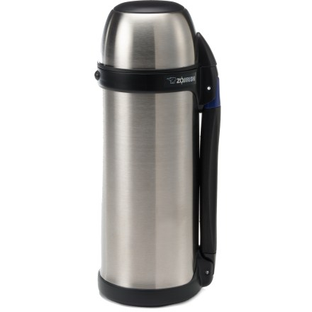 Camp and Hike The 1-liter Zojirushi Tuff Sports vacuum bottle has a clever pull-up/snap-down handle for easy carrying and compact storage. - $25.93