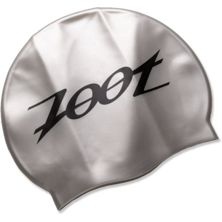 Fitness The Zoot SWINfit silicone unisex swim cap keeps hair out of your face and minimizes chlorine damage during pool training. - $3.93