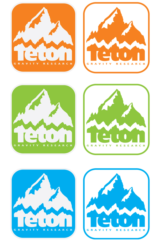 "Ski Unique  2""X2"", two-in-one positive and negative mountain logo sticker pack in 3 colors. One for your helmet, one for your skis. - $1.00"