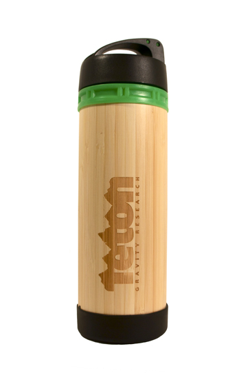 Fitness The Teton Gravity Research Bamboo Bottle is the ultimate office, home, or yoga bottle. Weather you are drinking cold, hot, or a smoothie, it will taste great coming from this glass-lined bottle.   17 Oz.  BPA Free  Dishwasher Safe Glass - $19.95