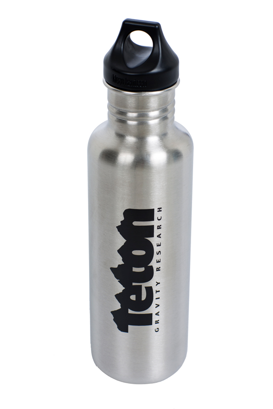 Ski Load up for your next adventure with Teton Gravity Research Team Logo Water Bottle. Because stainless steel itself is safe, no coating on the inside of the bottle is necessary. This bottle will keep your drinks fresh, clean, & crisp.   27 oz. Brushed Stainless  Loop Cap  BPA Free  Dishwasher Safe - $20.00