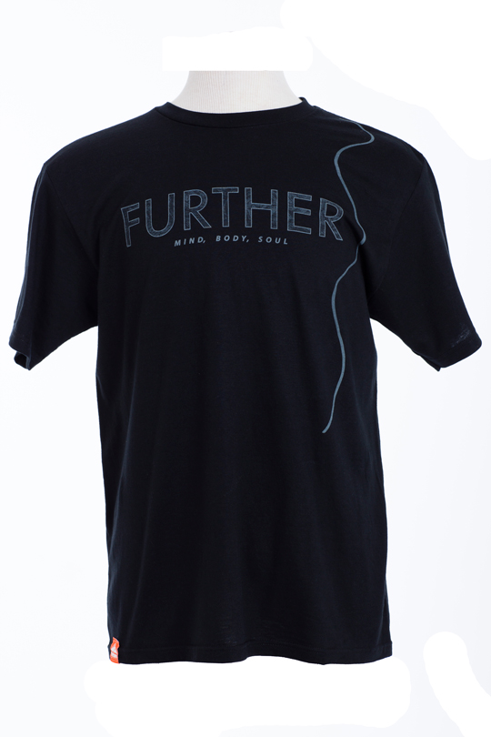 Snowboard Mind, Body, Soul. That's how Teton Gravity Research's Further T-Shirt lives it's life and so should you.   50% Organic Cotton/50% Recycled Polyester Regular Fit - $24.95