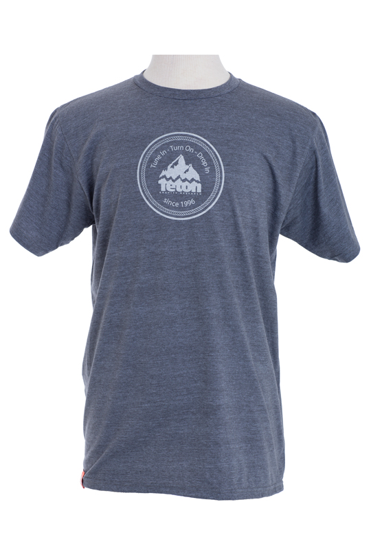 Ski Tune In, Turn On, Drop In with Teton Gravity Research's Circle Logo T-Shirt. This Eco-Friendly T-Shirt will help to remind you why you live the way you do....or should.   50% Organic Cotton/50% Recycled Polyester Regular Fit - $9.95