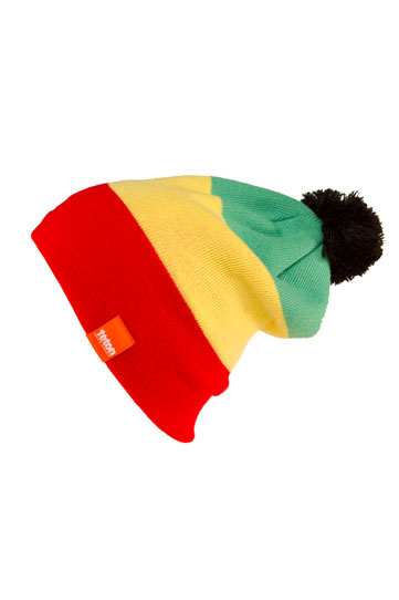 Wake Wake up, load a big fat bowl...of Cheerios, or whatever, and gear up with the Teton Gravity Research Rasta Beanie. 100% Acrylic - $24.95