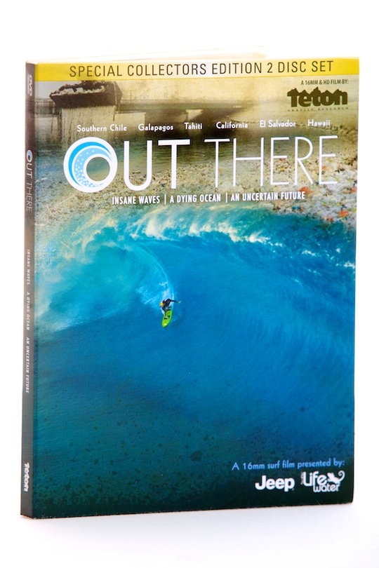 Surf Teton Gravity Research (TGR) presents OUT THERE, a 16mm and HiDef surf film.   Created in partnership with Surfrider Foundation, OUT THERE showcases today's most progressive surfing, while considering humankind's impact on the world's oceans, beaches and waves.  Through the experiences of surfers and the locals they meet throughout their travel, the film takes a thought-provoking look into the environmental destruction threatening known and unknown surf spots. OUT THERE questions impending threats to Trestles in Southern California, pulp mill pollution in Southern Chile and unrestricted development along Hawaii's famed North Shore and in Tahiti. - $11.95