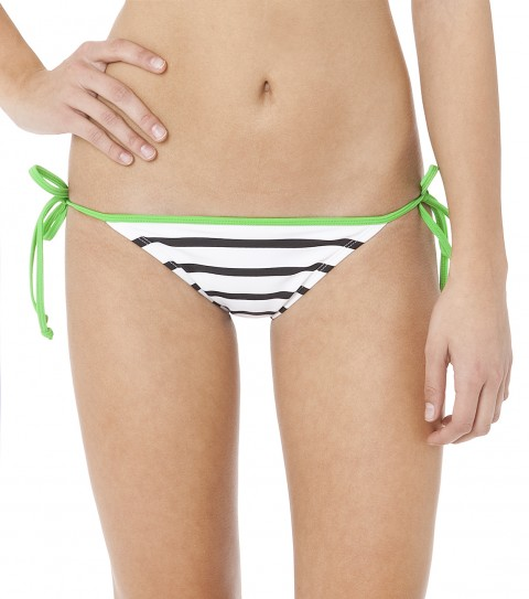 Surf The O'Neill Lines Tie Side Bikini Bottoms have medium coverage and are 82% Nylon / 18% Elastane. - $26.99