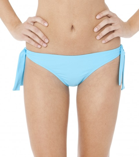 Surf The O'Neill Solid Retro Tie Side Bikini Bottom is 82% Nylon / 18% Elastane and has full medium coverage. - $27.99