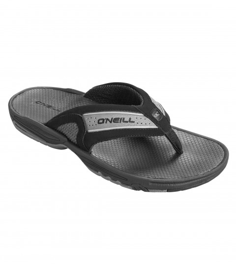 Entertainment O'Neill mens sandals. Classic 3 point sandal strap design; performance driven 3 part bottom unit design; ONeill D3 Trident System = 3 density footbed construction for the ultimate in comfort; traction; and stability. Water wise upper material mapping with breathable airmesh and fast dry upper for all day wear in and out of the water. Fully lasted construction for superior fit and durability over rugged terrain. - $36.99