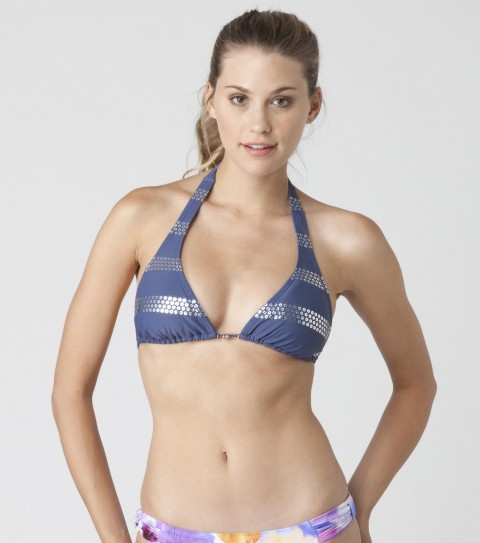 Surf O'Neill Somethin' Halter Bikini Top.  82% Nylon / 18% Elastane solid.  Ties at back of neck and back; removable cups. - $30.99