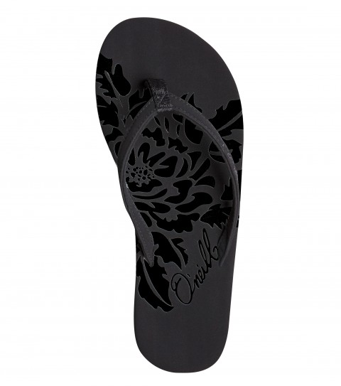 Entertainment O'Neill Rambler Sandals.  Faux nubuck flipflop with wrapped topsole and strap; embossed floral design on topsole; EVA midsole with arch support; custom rubber outsole. - $12.99