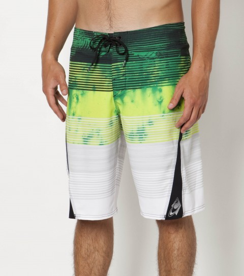 Surf O'Neill SuperFreak Boardshorts with new psychostretch 22'' outseam material; features hyperprene stretch panels; superfly 2.0 closure; locking drawcord; welt zip pocket; embroidered; appliqued and screened logos. - $47.99