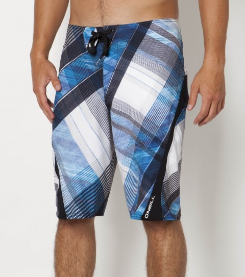 Surf O'Neill Zepolfreak Boardshorts.  New psychostretch.  22'' Outseam features engineered printed boardshort with hyperprene stretch panels; superfly 2.0 closure; locking drawcord; no inseam; welt zip pocket; embroidered; appliqued and screened logos. - $47.99