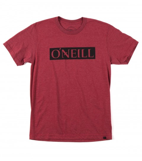 Surf O'Neill All Day Tee.  50% Cotton / 50% Poly.  30 singles modern fit heather tee with softhand screeenprint and attached hem label. - $17.99