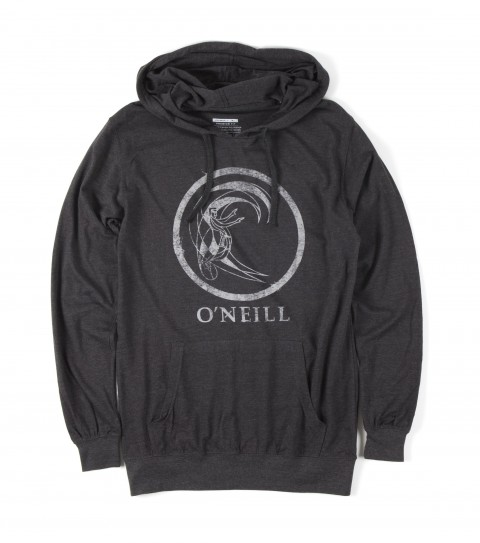 Surf O'Neill Soul Arch Hoodie.  50% Cotton / 50% Poly.  30 singles premium fit heather longsleeve hoodie with attached drawcords and kangaroo pocket. Softhand screenprint and attached clip label on hood. - $31.99