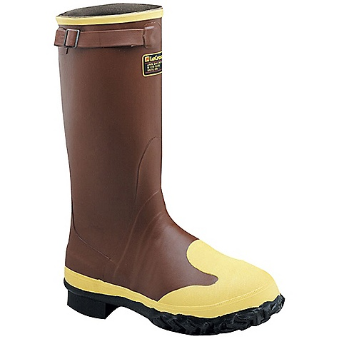 Free Shipping. Lacrosse Men's Protecta 16 Inch Boot DECENT FEATURES of the La Crosse Men's Protecta 16 Inch Boot All natural, hand-crafted ZXT ozone and tear resistant rubber Uncompromising waterproof protection Top strap for an adjustable secure fit Safety toe and metatarsal guard protection Removable footbed Puncture resistant midsole Fiberglass shank Trac-Lite outsole featuring slip resistant traction The SPECS Height: 16in. Weight: 6.6 lbs Lining: Nylon Safety Standards: Steel Toe, Steel Midsole And Full Metatarsal Guard Meets or Exceeds Astm F2413-11 M I/75 C/75 MT EH PR - $151.95