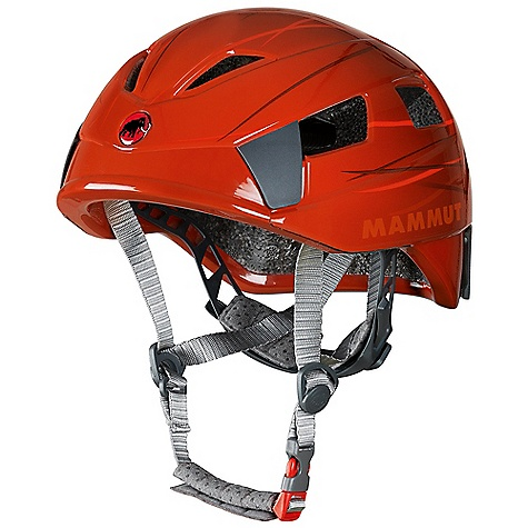 Climbing On Sale. Free Shipping. Mammut Tripod 2 DECENT FEATURES of the Mammut Tripod 2 In-mold helmet with EPS core and tough Microshell Large ventilation openings for good air circulation and heat discharge Ergonomic interior with comfortable padding Super light and simple to adjust headband for quick fit Height- and size-adjustable headband All-round, fully adjustable chin strap for ideal fit 4 large and stable clips for headlamps Standard EN 12492 UIAA standard 106 The SPECS Weight: 250 g Size: 48-55, 53-61 cm ALL CLIMBING SALES ARE FINAL. - $62.99