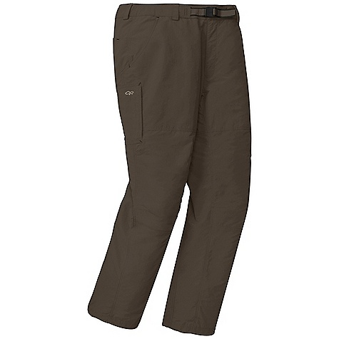 On Sale. Free Shipping. Outdoor Research Men's Equinox Pant DECENT FEATURES of the Outdoor Research Men's Equinox Pant DWR Finish Quick Drying Breathable Lightweight SolarShield Construction UPF 50+ Belt Loops Snap and Zipper Fly Adjustable Belt Front Slash Pockets Back Patch Pockets Rear Pockets with Flap Closures Zippered Thigh Pocket Hidden Storage Pocket Gusseted Crotch Articulated Knees Drawcord Ankle Adjustments The SPECS Weight: (L): 10.4 oz / 294 g Fit: Standard Inseam: 33in. / 84 cm 100% Supplex nylon This product can only be shipped within the United States. Please don't hate us. - $44.99