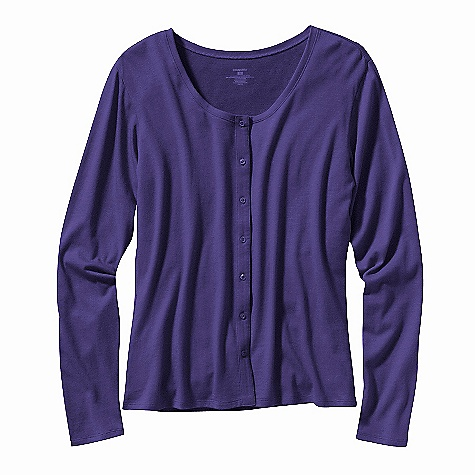 On Sale. Free Shipping. Patagonia Women's Versatiliti Cardigan DECENT FEATURES of the Patagonia Women's Versatiliti Cardigan Plaited organic cotton and Tencel fabric is soft and comfy Summer-weight cardigan sweater to layer over or under Small, feminine buttons down center front Hip length Regular fit The SPECS Weight: 178 g / 6.3 oz Fabric: 5.5-oz 62% organic cotton/38% Tencel plaited jersey Recyclable through the Common Threads Recycling Program This product can only be shipped within the United States. Please don't hate us. - $26.99