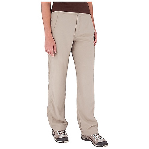 Entertainment Features of the Royal Robbins Women's Cardiff Traveler Pant UPF 40+ Lightweight Straight leg Tab waist Adjustable hem Rotated seams Zip secured pocket Hidden zip secured pocket Back zip secured pockets - $27.99