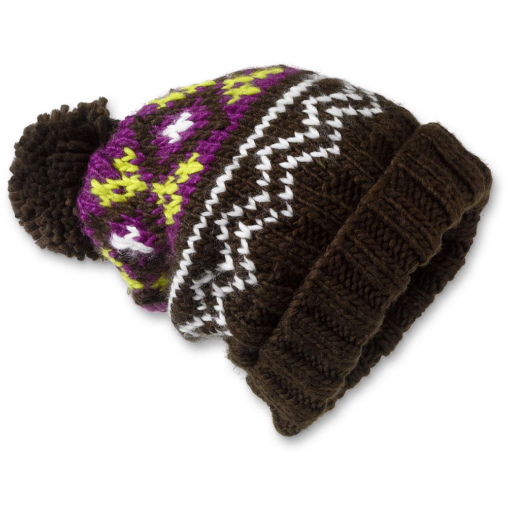 Eddie Bauer Rosette Beanie Hat - Traditional pom style and full-length warmth makes this the perfect hat for cold powder days. Imported. - $14.99