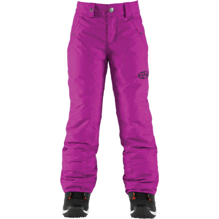 Ski The Bonfire Girls' Luna Pant proves that hot style and cold weather are not such distant strangers after all. The Luna Pant is tailored with an undeniably feminine cut and constructed using uniquely textured and durable brushed oxford material. And as far as warmth goes, the Luna keeps you riding longer with all-over 100g synthetic insulation. - $34.98