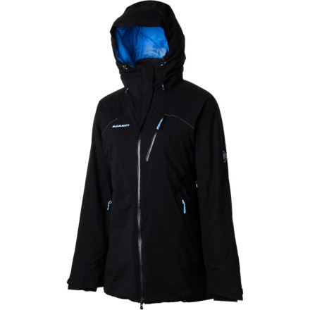 Fitness The Mammut Women's Misaun Jacket will keep you warm and dry during your outing. Dry Tech Premium shell fabric stands up to drizzle and snow flurries, and light synthetic insulation holds in precious body heat. Add in the Lycra hand gaiters, drawcord hem, and the fully adjustable hood, and your ready to handle old man winter's storms. - $153.42