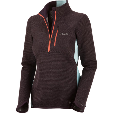 Ski When you need serious warmth, but you aren't willing to sacrifice mobility, the Columbia Women's Cuerpo Thermo 1/2-Zip Fleece Jacket holds your body heat in while offering full range of motion. Layer this fleece jacket under a water-blocking shell for cold ski days, or wear it by itself when an early morning jog sounds like a perfect way to start your day in spite of the chill. - $69.97