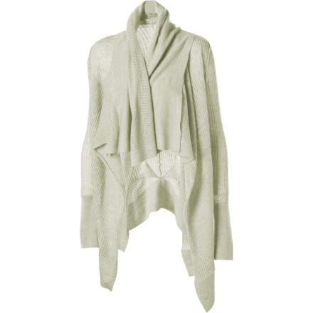 The EMU Women's Hideaway Bay Cardigan is a lightweight, almost sheer top that adds an elegantly layered feel to your look. The fishtail hem is split down the center to hug and accentuate your hips, and the draped collar adds dimension. Slip this cardigan over a T-shirt or camisole for spring days or cool summer nights when you want a casual, refined look. - $89.48