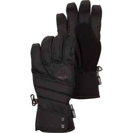 The 686 Women's Radiant Insulated Gloves wrap your hands in luxurious warmth so you can ride all day without having to retreat to the lodge to warm your paws. Wear-it-with-anything style mixes it up with high-tech materials so you'll stay warm and won't have a stroke trying to put together a good looking kit. - $27.50