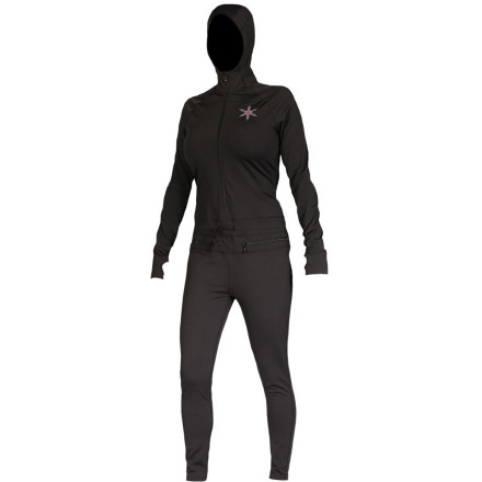 The Airblaster Women's Expedition Weight Ninja Suit seals out the chill when you're playing in nature's most frigid environments. Zip up in this suit when you need literal head-to-toe protection from freezing air. - $111.97