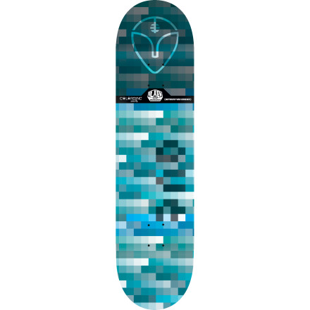 Skateboard We can only assume the pixelated graphics on the Alien Workshop Colorsync II Skate Deck are hiding something the government doesn't want you to know. We recommend thrashing this board until you get to the bottom of the conspiracy. - $44.96