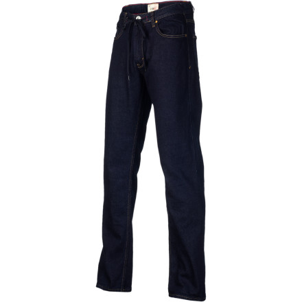 Skateboard Keep it G-Code like Theotis in the T. Beasley Fairfax Signature Men's Denim Pant. It has a straight cut and a touch of spandex in the fabric that allows plenty of freedom of movement for skating without being ridiculously baggy. - $45.47
