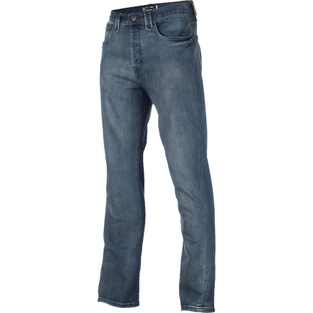 You refuse to apologize for your rebellious lifestyle, and the Analog Men's Arto Denim Pant backs you up at every step. This slightly stretchy straight leg Analog jean features Arto's signature hardware package including gold finish logo shanks, a back patch, and an interior waistband screen print. - $45.47