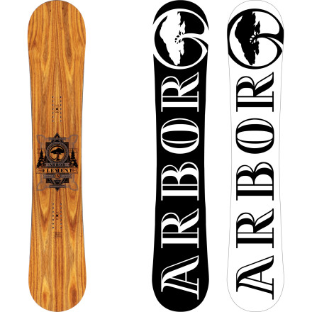 Snowboard The versatile, powerful Element CX has been a staple of Arbor's lineup for as long as they've been making snowboardswith good reason. A standard camber profile, moderate flex and slightly directional shape give you the response and stability to rip early-morning groomers or blast through chunder, with enough forgiveness to spin off park kickers or natural hits. - $335.97
